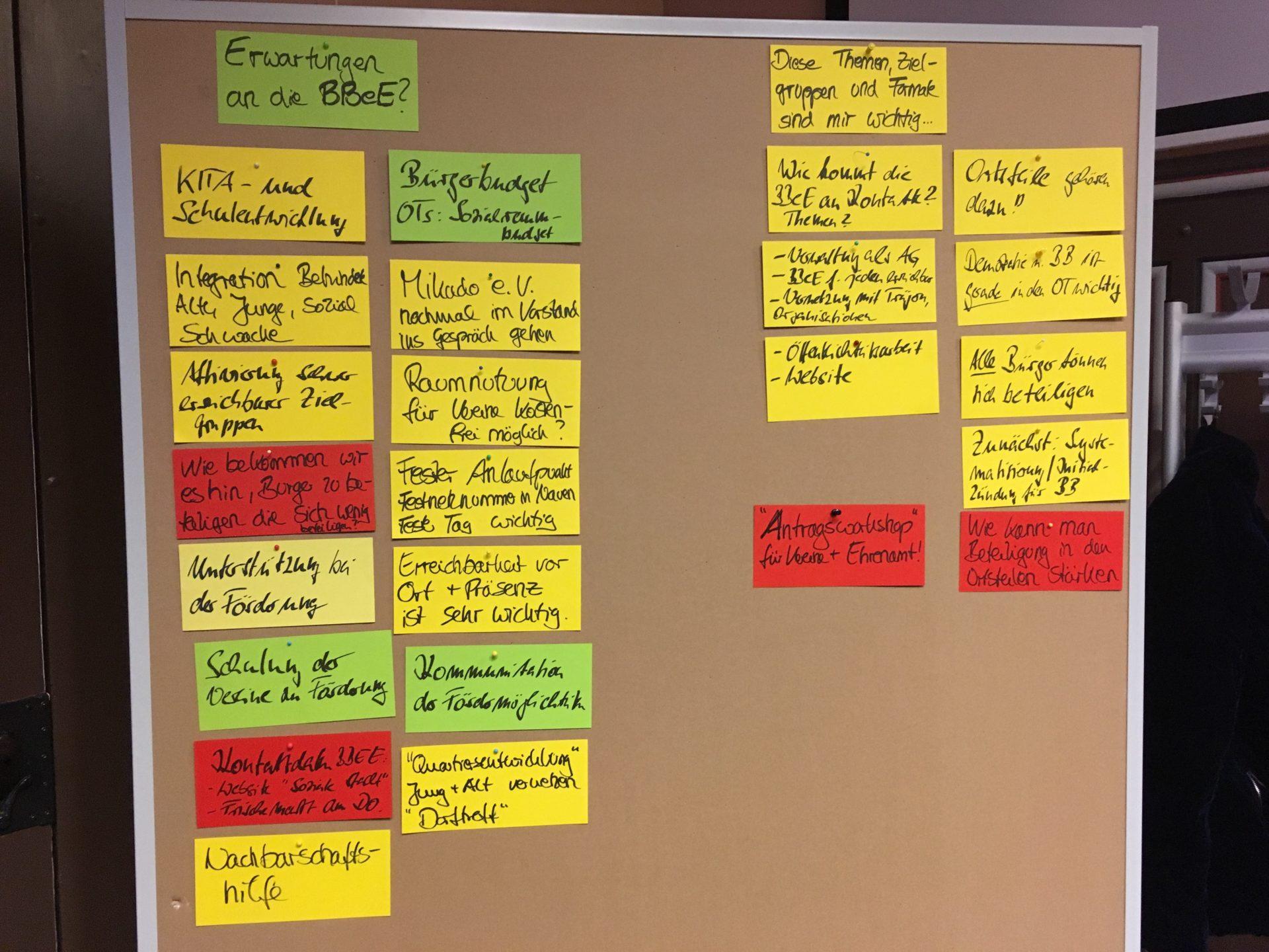 Ergebnisse der Sonderausschusssitzung Bau und Soziales vom 17.09.19, Vorstellung der BBeE